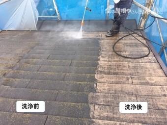 泉大津市の屋根の洗浄