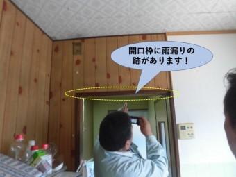 岸和田市の雨漏り現地調査中