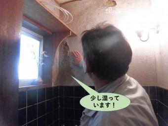 岸和田市のトイレの壁が少し湿っています!