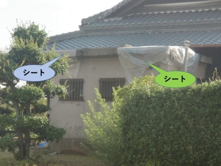 岸和田市包近町の陸屋根応急処置