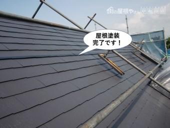 和泉市の屋根塗装完了です