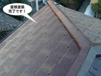 忠岡町の屋根塗装完了です