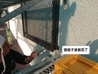 和泉市の面格子塗装完了