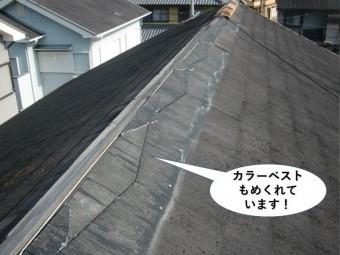忠岡町のカラーベストもめくれています