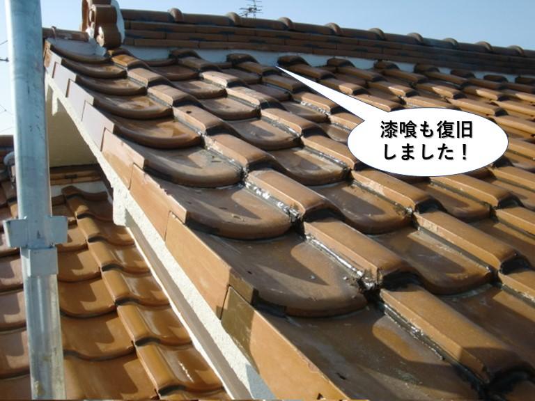泉南市の漆喰も復旧完了
