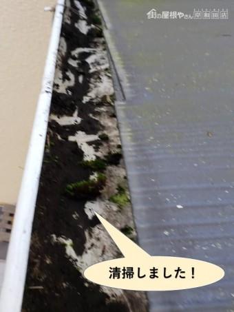 貝塚市の雨樋を清掃しました!
