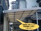 岸和田市の波板張り替えなどの現地調査