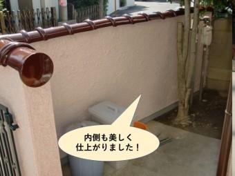 岸和田市の塀の内側も美しく仕上がりました