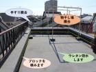 岸和田市の陸屋根の工事内容です