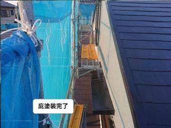 和泉市の庇塗装完了
