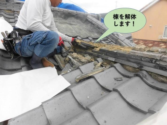 岸和田市の棟を解体します