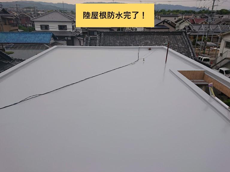 和泉市の陸屋根防水完了!