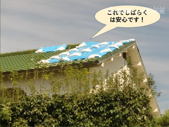 岸和田市の屋根の応急処置・これでしばらくは安心です!