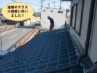 和泉市の屋根やテラスの調査に伺いました