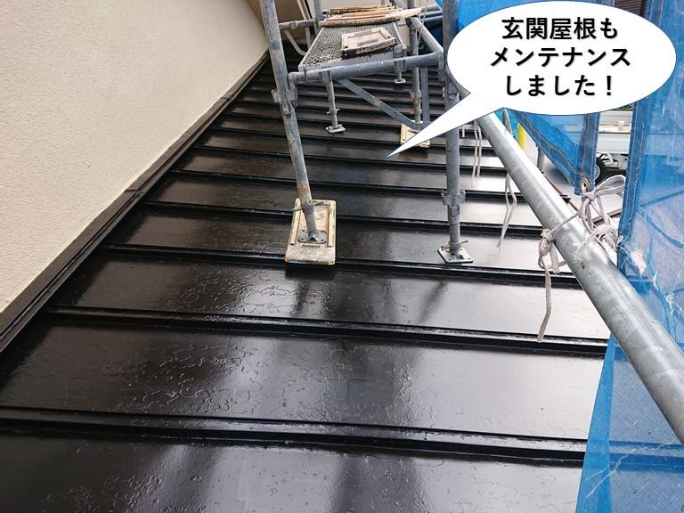 和泉市の玄関屋根もメンテナンスしました