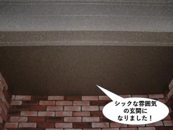 和泉市のシックな雰囲気の玄関