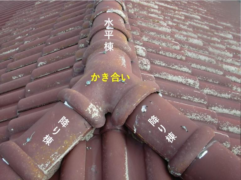熊取町の棟のかき合い