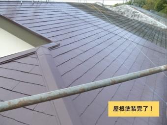 貝塚市の屋根塗装完了