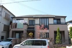 岸和田市加守町の蘇ったスレート板葺きの屋根塗装 現況