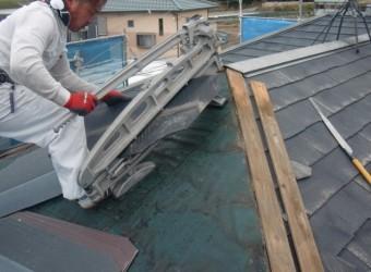 岸和田市尾生町の屋根一部葺き替え