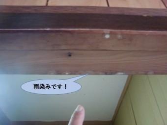 岸和田市の開口枠の雨漏り