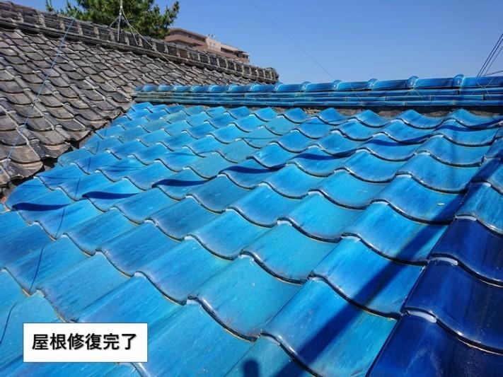 岸和田市の屋根修復完了