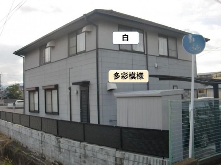 泉大津市の外壁を上下で色分けします