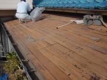 岸和田市野田町の家劣化板金屋根撤去