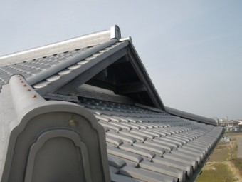 岸和田市東大路町の淡路産特上和瓦の屋根の葺き替え