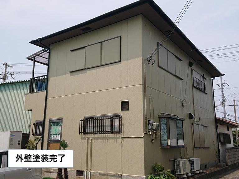 岸和田市の外壁塗装完了