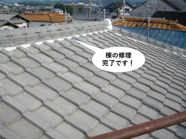 泉南市の棟の修理完了です