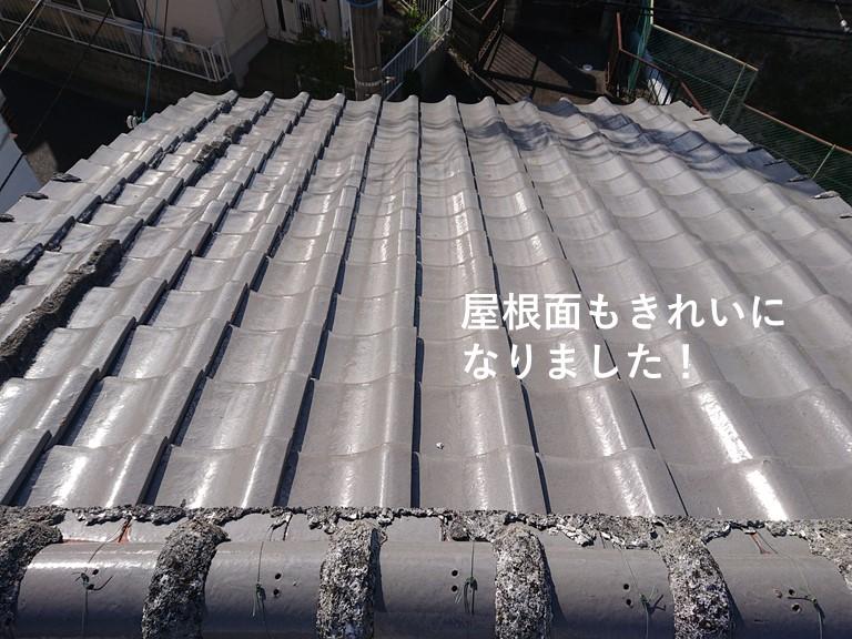 泉佐野市の屋根面もきれいになりました