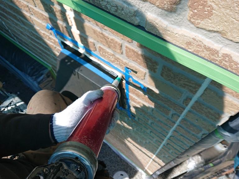 熊取町の換気フード周りのシーリングも打ち替えました