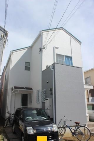 貝塚市半田の外壁塗装後の様子