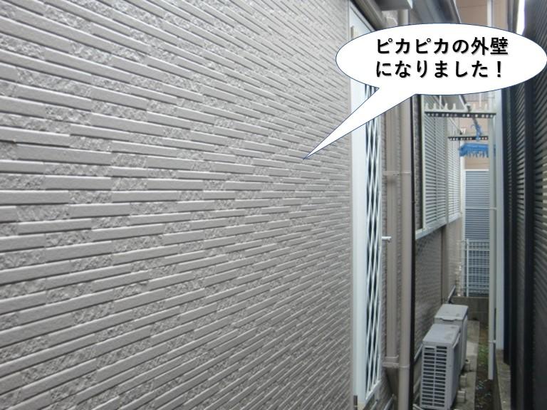 高石市の外壁がピカピカの外壁になりました