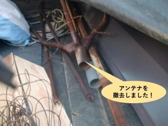 岸和田市のアンテナを撤去しました