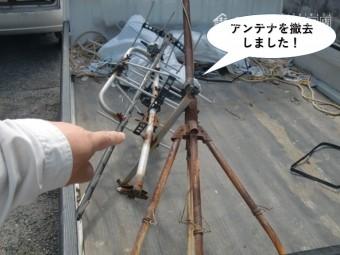 和泉市のテレビのアンテナを撤去しました