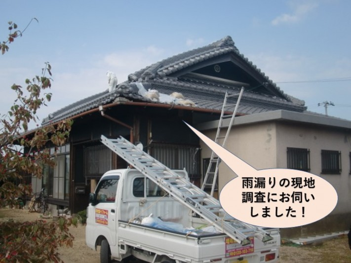 岸和田市の雨漏りの現地調査