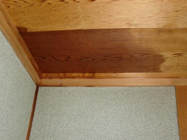 岸和田市の家の玄関天井に雨漏り