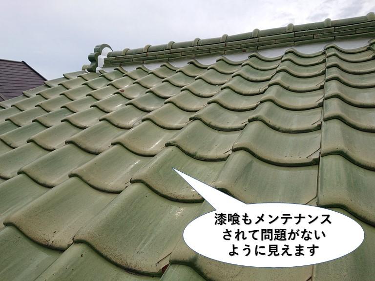 泉大津市の漆喰もメンテナンスされて問題が無いように見えます