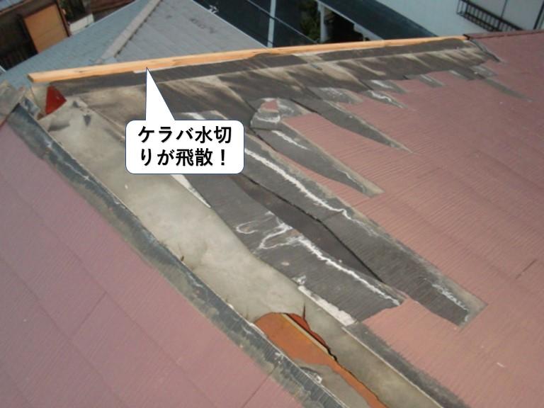 岸和田市のケラバ水切りが飛散