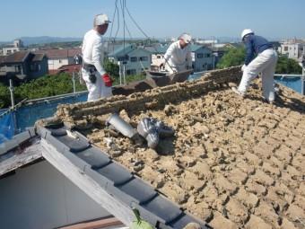 岸和田市土生町の既存屋根撤去