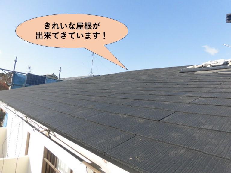 岸和田市の屋根葺き替え途中経過