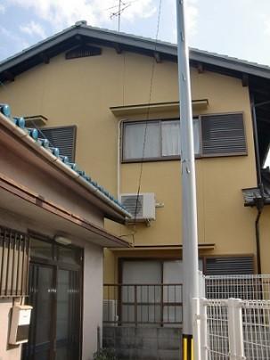 岸和田市春木本町のひび補修と外壁塗装