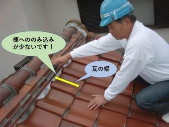 岸和田市の棟へののみ込みが少ないです