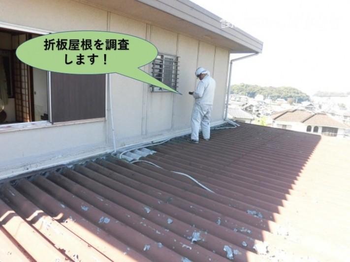 泉南郡岬町の折板屋根を調査します!