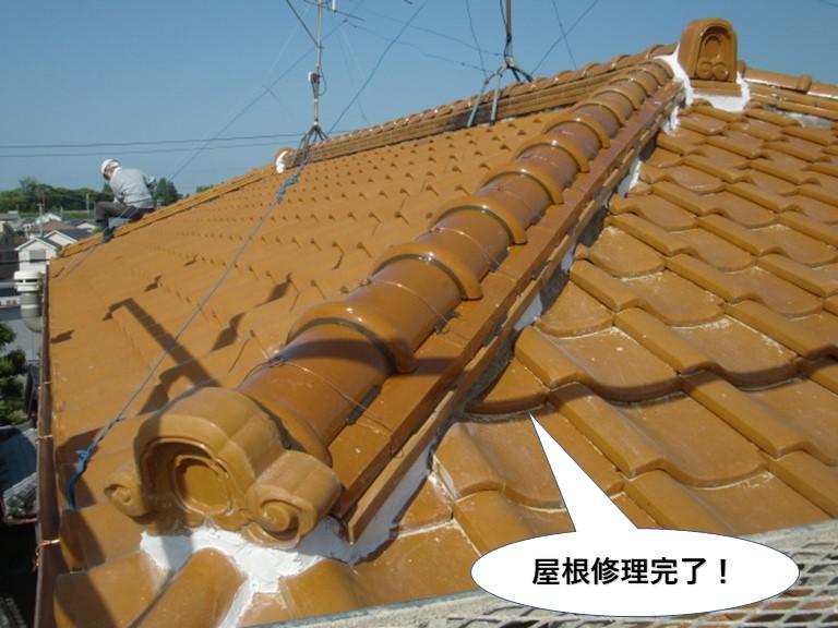 泉南市の屋根修理完了