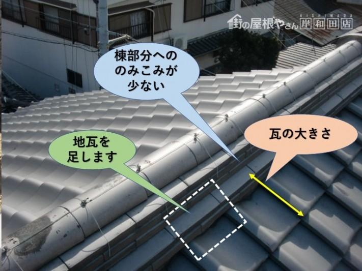 岸和田市の棟に地瓦を足します