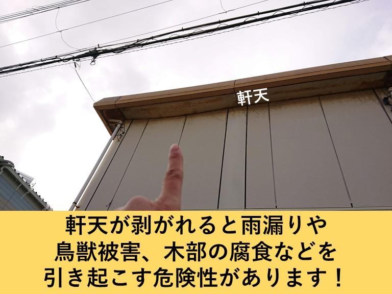 岸和田市の軒天が剥がれると様々な二次被害を引き起こします