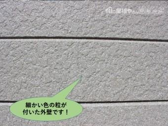 岸和田市の細かい色のついた外壁です